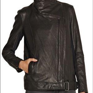 Helmut Lang textured-leather biker jacket