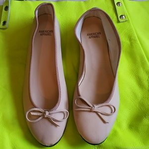 American Apparel Shoes - American apparel ballet flat NEW all leather!
