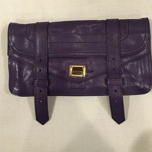NEW Proenza Schouler PS1 leather Pochette -Violet
