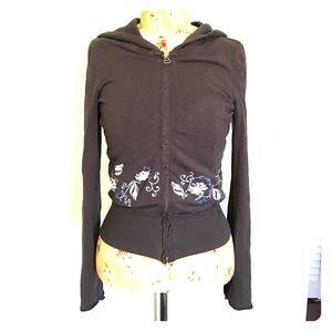Zella indigo zippered hoodie