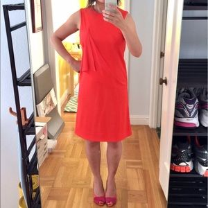 COS Dresses - HP🎉 COS Red Orange Minimalist Draped Jersey Dress