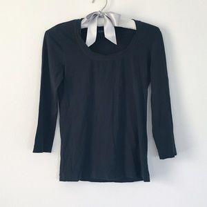 DKNY // Black Scoop Neck Shirt