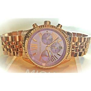 b6b37fe001fa Michael Kors Accessories - Women s Michael Kors Lilac Lexington watch MK6207