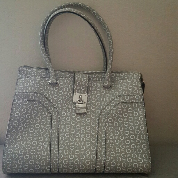 Guess grey large purse!