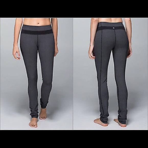 2852656cc lululemon athletica Pants - lululemon skinny groove pant diamond dot black