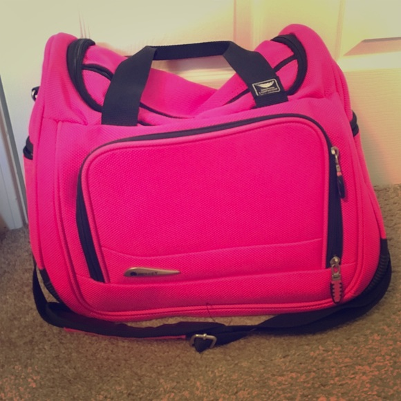 70% off Delsey Handbags - Delsey hot pink luggage bag from ! top ...