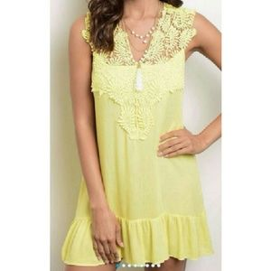 boutique Dresses & Skirts - Darling yellow tunic / dress