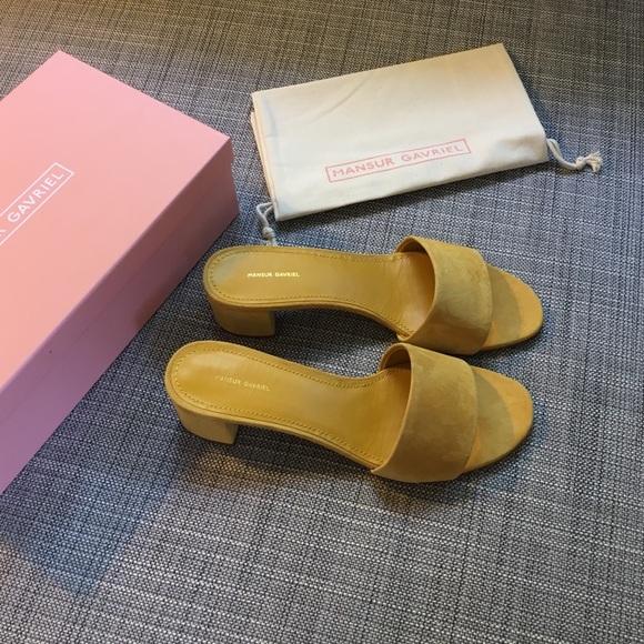 47ff31e00795 Brand new Mansur Gavriel suede sandals size 38