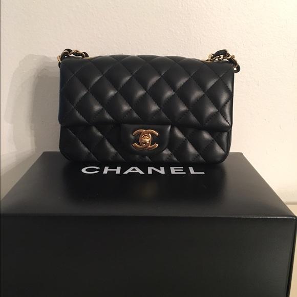 4bf853738 CHANEL Bags | Sold Lambskin Rectangular Mini Flap | Poshmark