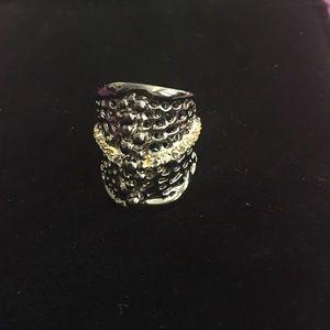 Anitanja Jewelry - Anitanja Sea Fan Noir Ring Size 8