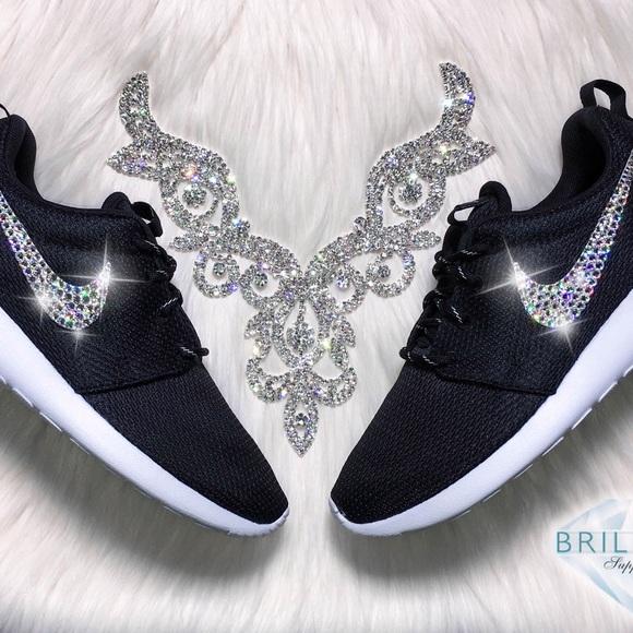 Swarovski Nike Roshe - Bling Nike Roshe Shoe Black 4b9b2d54c