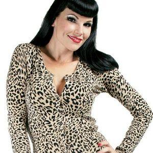 Voodoo Vixen Sweaters - Voodoo vixen leopard cardigan