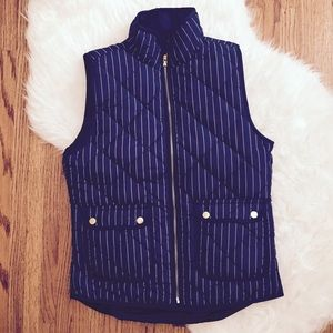 Navy Pinstripe Excursion Vest NWT!