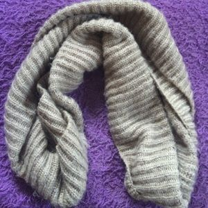 Accessories - Beige Thick Infinity Scarf