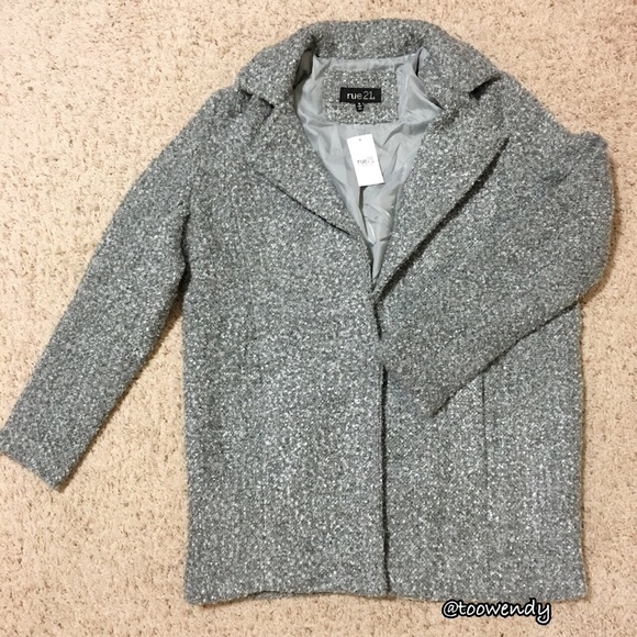 69% off Forever 21 Jackets & Blazers - Rue21 Oversized Tweed ...