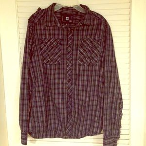 Ocean Current Other - Men's casual black&white plaid button down!