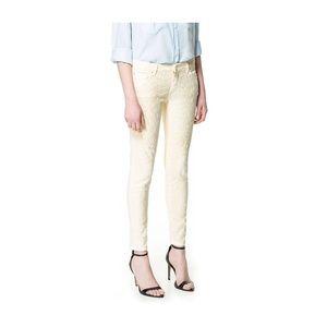 Zara Denim - Zara animal print yellow trousers size 6