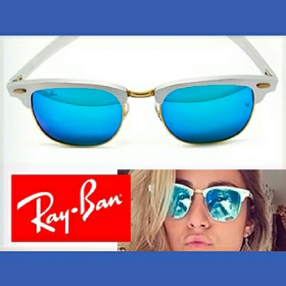 ray ban clubmaster blue mirror 7l15  Ray-Ban Accessories