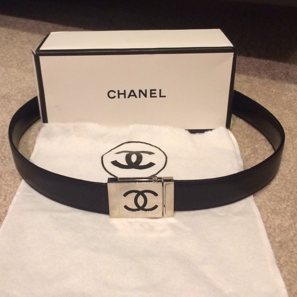 chanel belt. chanel accessories - black belt authentic dustbag/box chanel belt w