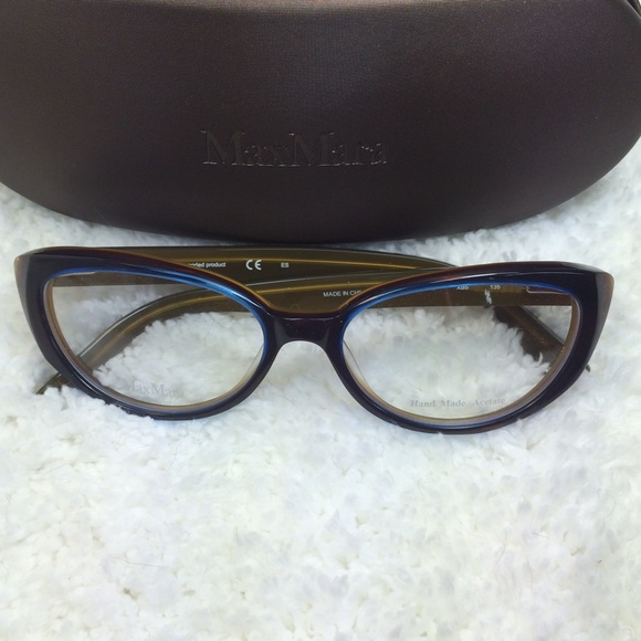 44de19e02c5 New Max Mara cat eye glasses frame with case. M 57352fcb6a5830c19a018292