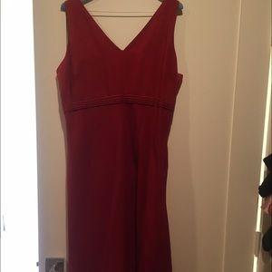 Ann taylor red linen dress size 12