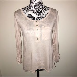 NWT Charlotte Russe XS pink button down t shirt