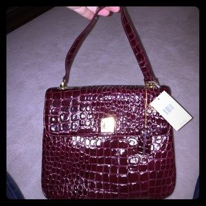 Lord & Taylor Handbags - Lord and Taylor alligator feel leather bag