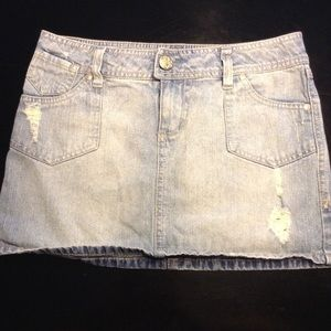 Cute washed Jean mini skirt size1
