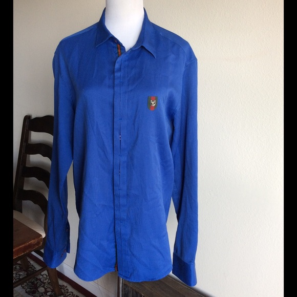 Gucci - Gucci Unisex Royal Blue button down shirt 🇨🇮❤ from ...