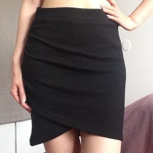Black Wrap Skirt Form-fitting H&M