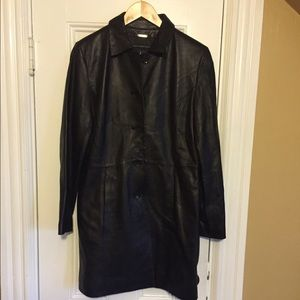 Wilsons leather women's trench coat