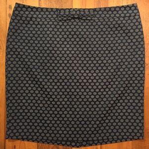 LOFT Dresses & Skirts - LOFT blue polka dot skirt size 16