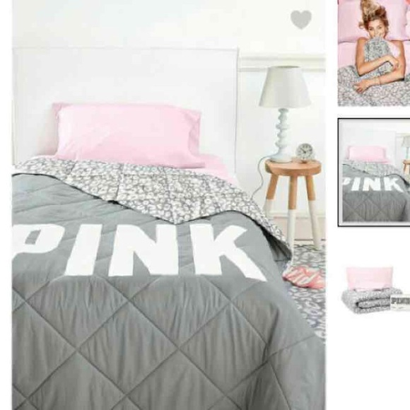 NWT VS PINK TWIN BED SET