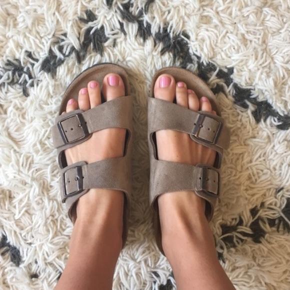 d7c05ba5a04 Birkenstock Shoes - Grey suede Birkenstocks