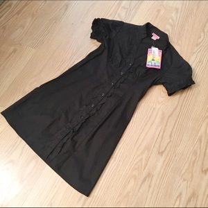 NWT SHE'S COOL ruffled dress