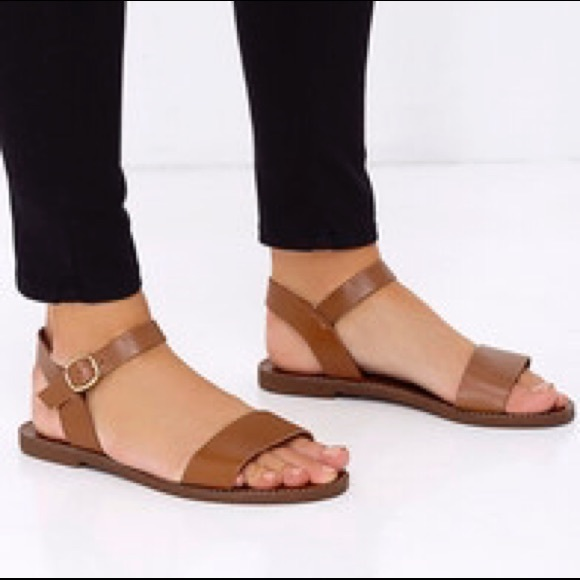 323b213d02d99 Minimalist brown strap sandals