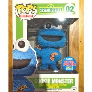 FUNKO Pop Flocked Cookie Monster NYCC Exclusive