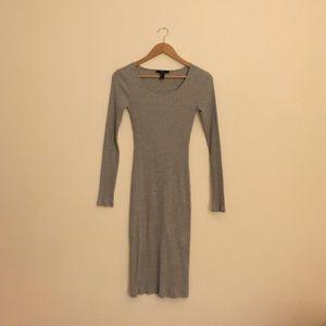 Forever 21 Ribbed Knit Midi Dress