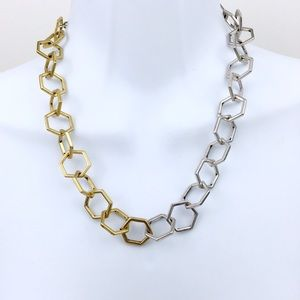 Lucky Brand Jewelry - Lucky Brand Ombre Gold & Silver Geometric Necklace