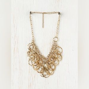 FREE PEOPLE // Gold Bib Necklace