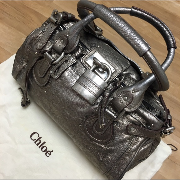 3742d56a8ed Chloe Bags | Authentic Paddington Bag Metallic Silver | Poshmark