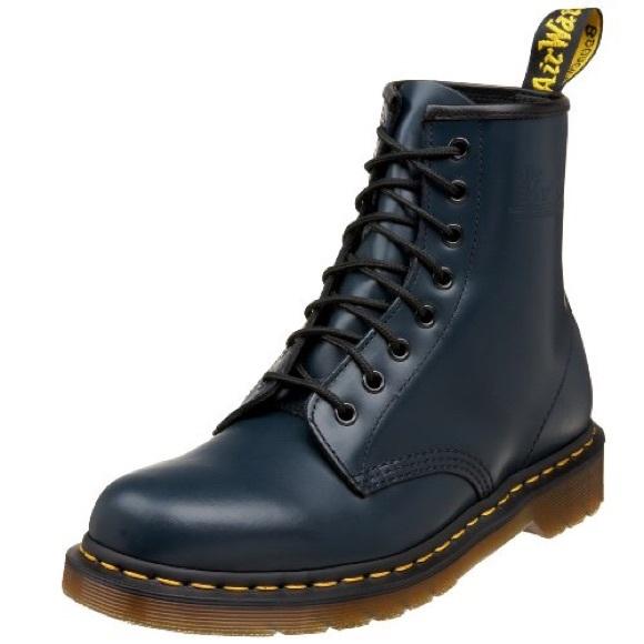 Navy Blue Doc Marten Shoes