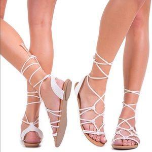 LAST ONE - White Summer Sandals