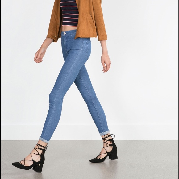 8bf105d7ebf63 Zara lace up block heel. M_573586706d64bc3179023495