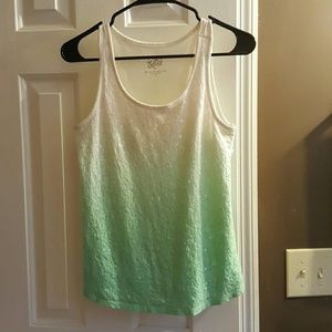 Justice Other - Mint ombre sequin tank