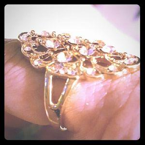 Jewelry - 10k Yellow Gold Filled Citrine Gemstones ring
