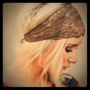 ***One Left***Coffee Brown Lace Headband