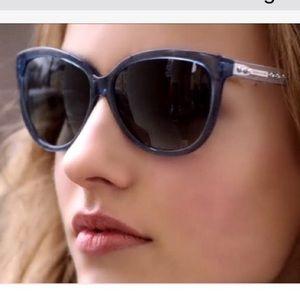 COACH blue cat eye sunglasses