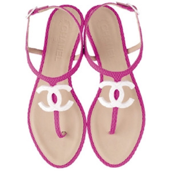 377c2f91e7db CHANEL Shoes - Chanel Pink Thong Strap Flat Sandal