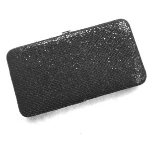 Merona Handbags - Black sparkly wallet purse, great for evening wear